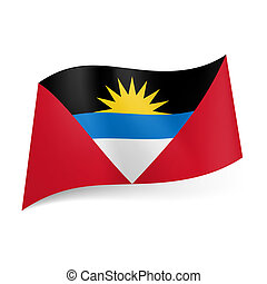 State flag of Antigua and Barbuda - National flag of Antigua...