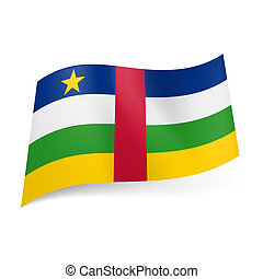 State flag of Central African Republic - National flag of...
