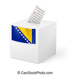 Ballot box with voting paper Bosnia and Herzegovina -...