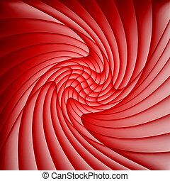 Abstract red background of curved overlapping layers