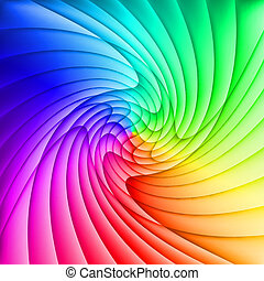 Abstract spectrum background of curved overlapping layers