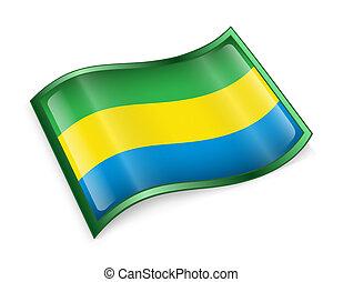 Gabon Flag icon.