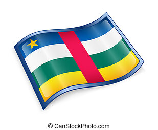 Central African Republic Flag icon.