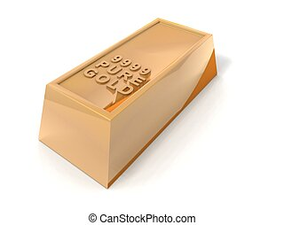 gold bar - a 3d rendering of a gold bar