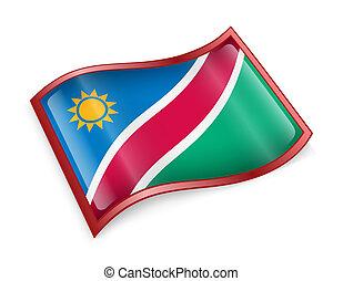Namibia flag icon.