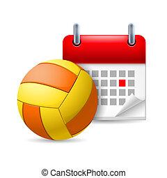 Golf ball and calendar