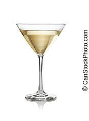Martini on a white background