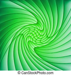 Abstract green background of curved overlapping layers