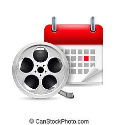 Film reel and calendar