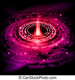 Abstract space background - Red space background of Saturn...