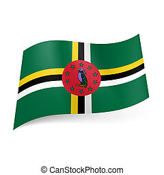 State flag of Dominica - National flag of Dominica: cross of...