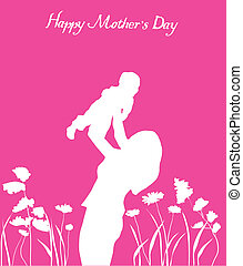 mother's day card - vector mother's day