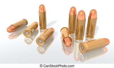 bullets - a 3d rendering of some bullets