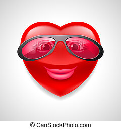 Heart character - Illustration of female heart character in...