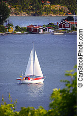Sweden and sailing boat