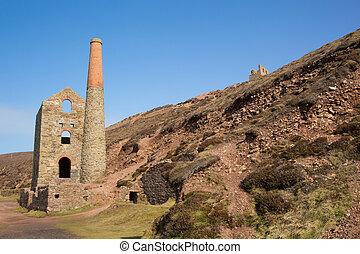 Wheal Coates Tin mine near St Agnes Head in Cornwall UK