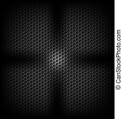 Carbon background - Black carbon background with light in...