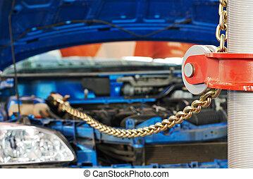 car repair - Automobile car repair by mobile bench system