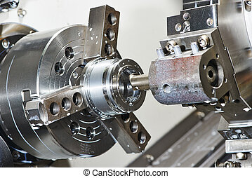 metal work by bore machining on lathe - industrial metal...