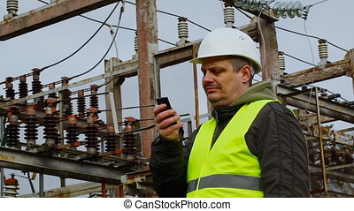 Electrician - Electrician in the electric substation episode...
