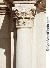 Corinthian column and capital