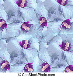 Real Flowers Pattern - Digital photo collage and...