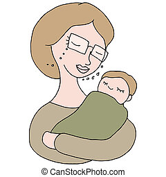 Woman Holding Baby - An image of a woman holding a baby