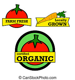 Fresh produce stickers