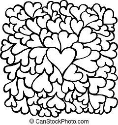Big hearts texture