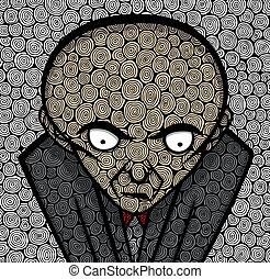 Boss Card - Boss in texture, vector illustration