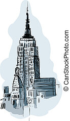 Empire State Building - Illustration of the Empire State...