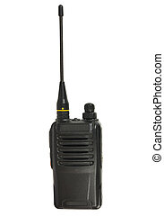 Industrial portable transceiver. Isolated on the white...