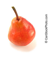 red pear - image of a red pear on a white background