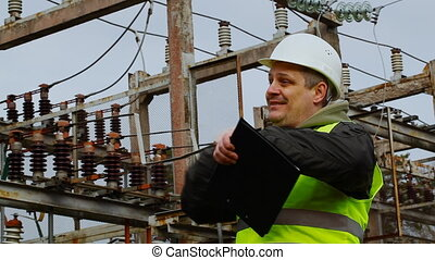 Electrician  in the electric substation episode 8