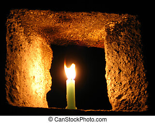 candlelights - Glowing candlelights are used by Tibetans as...