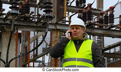 Electrician  in the electric substation episode 10
