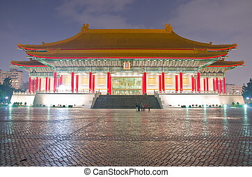 National Music Hall of Taiwan in a cloudy evening - National...