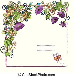Floral card with place for your text
