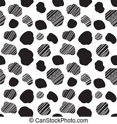 Seamless vector pattern with spotted cow texture
