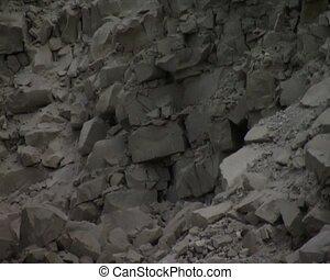 excavators work - excavators bucket work in quarry