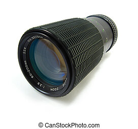 zoom lense - image of a zoom lense on a white background