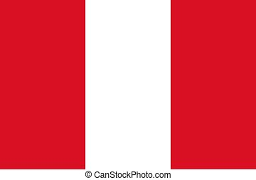 Flag of Peru - Official flag of Peru nation