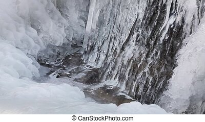 Frozen Flow Loop - Water flows beneath ice and snow in this...