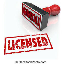 Licensed Stamp Official Authorized Certified Approval -...