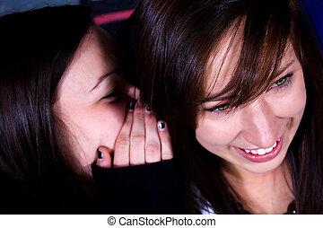 Teenagers - Whispering a Secret - One Teenage Whisper...