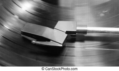 Texture Black White Record Player