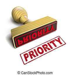 stamp priority with red text on white - stamp priority with...