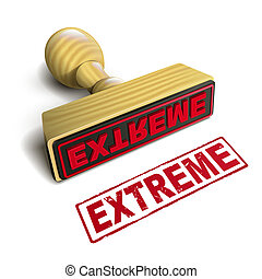 stamp extreme with red text on white - stamp extreme with...