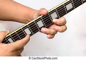 Guitar tapping technic