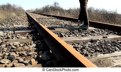 RAILWAY - WALKING ON RAILWAY